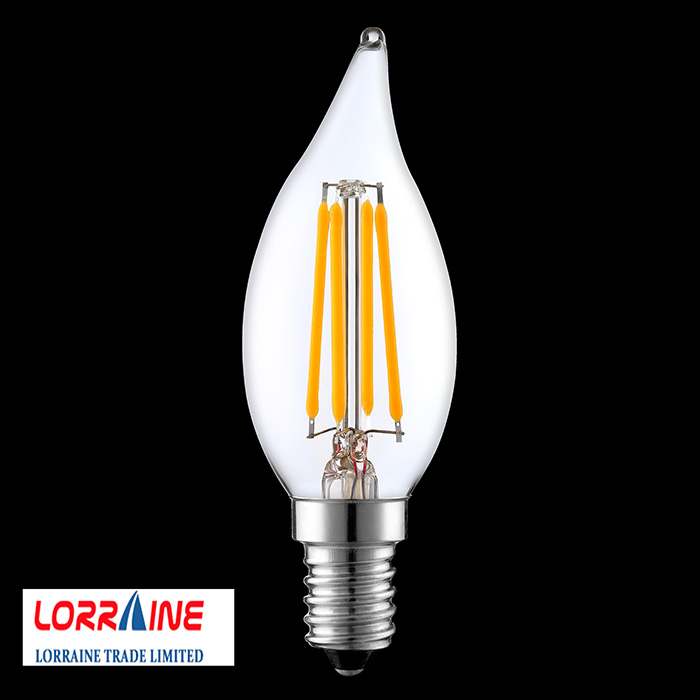C35 2000k-4000k Light Bulbs Equivalent,Warm White Candelabra Filament Bulbs
